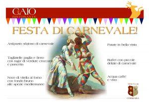 Menu Festa di Carnevale